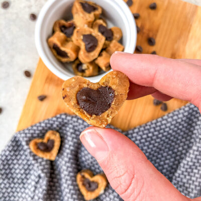 Protein Chocolate Chip Cookiedough Hearts